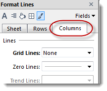 This setting leaves horizontal gridlines only