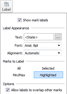 Label properties in Tableau