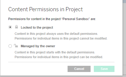 Personal Sandboxes for Governed Tableau Growth and Exploration
